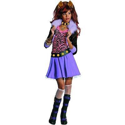 KINDER CLAWDEEN WOLF KOSTÜM Halloween Monster High Katzen Tiger Mädchen - Monster High Wolf Mädchen Kostüm