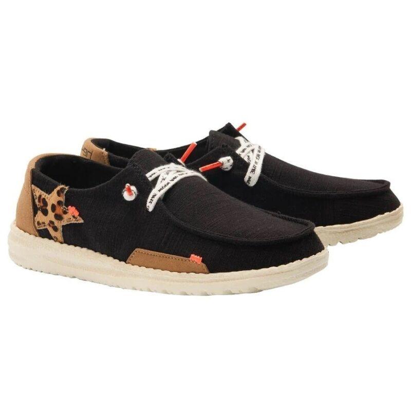 Hey Dude Ladies Wendy Jungle Star Black Slip On Shoes 121414975