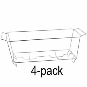 4 Pack Buffet Chafer Food Warmer Wire Frame Stand Rack