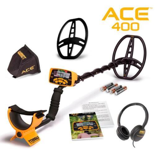 Garrett ACE 400 Metal Detector w/ Headphones, Coil Cover + Environmental Cover