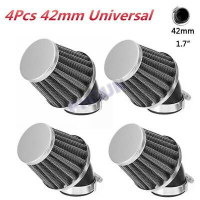 4x Motorcycle Scooter ATV 42mm 45° Air Intake Filter Pod 50-140cc Universal