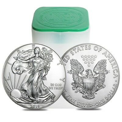 Купить Roll of 20 - 2018 1 oz Silver American Eagle $1 Coin BU (Lot, Tube of 20)