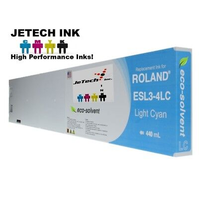 Roland Esl3-4 Eco-solvent Max Compatible 440ml Ink Cartridge - Light Cyan