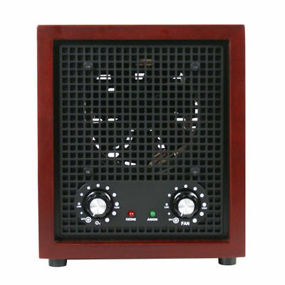 12.5-in Height Fresh Air Purifier Ozone Ionizer Cleaner Cherry Wood Home Decor