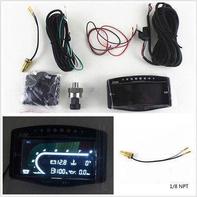 5In1 LCD Digital Car Vehicle Oil Pressure+Volt+Water Temp+Fuel+Tacho Guage Meter