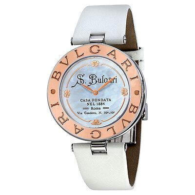 Bvlgari B. Zero1 White Dial18kt Rose Gold Ladies Watch 101737