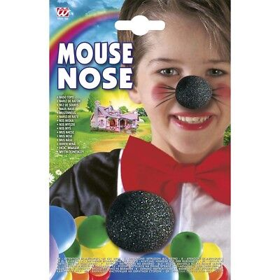 MAUS NASE SCHWARZ KINDER Karneval Fasching Fest Kostüm Jungen Mädchen Maske - Maus Kostüm Nase