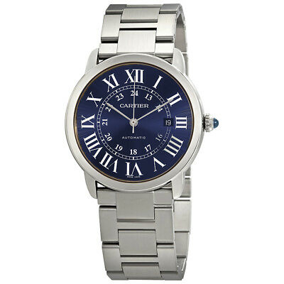 Cartier Ronde Solo Blue Dial Automatic Mens Watch WSRN0023