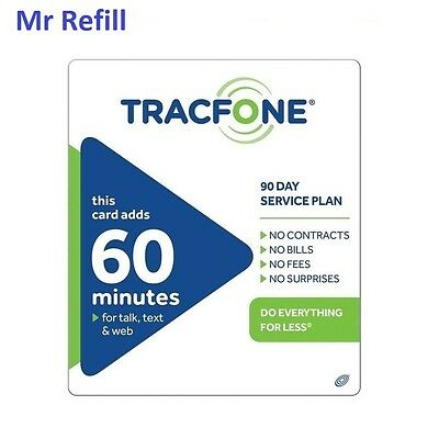 TracFone $19.99 Refill -- 60 Minutes/90 Days, fast & right for sale  Prospect