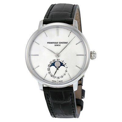 Frederique Constant Slimline Moonphase Silver Dial Mens Watch FC-703S3S6