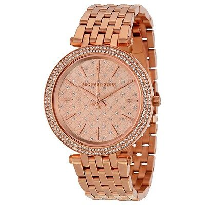 MICHAEL KORS MK3399 Darci Rose Gold Tone Crystal Dial Ladies Wrist Watch