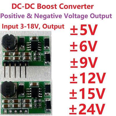 Dc Boost Step-up Volt Converter Dual Output 5v 9v 12v 15v 24v Power Supply