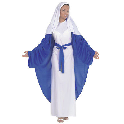 JUNGFRAU MARIA DAMEN KOSTÜM # Karneval Weihnachten Kirche Heilige Krippen 5838