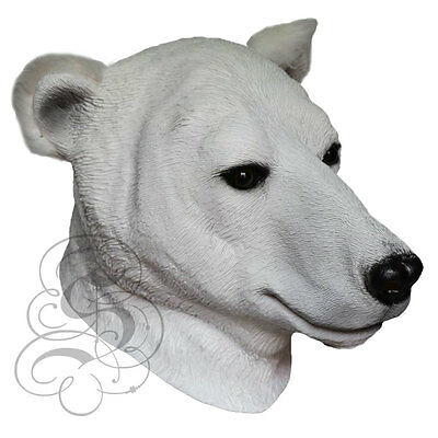 Latex Überkopf Realistische Animal Eisbär Kostüm Requisiten Karneval Party Maske ()