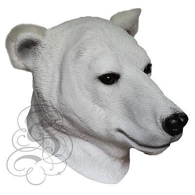 Polar Bear Mask (Latex Overhead Realistic Animal Polar Bear Fancy Props Carnival Party)