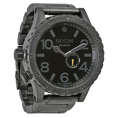 Nixon 51-30 Tide All Gunmetal/Black Mens Watch A057680