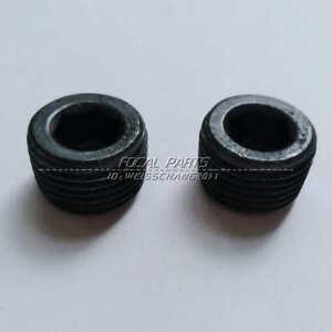 2 Pack 1/2 NPT Hex Head Pipe Plug Fitting Black 1/2