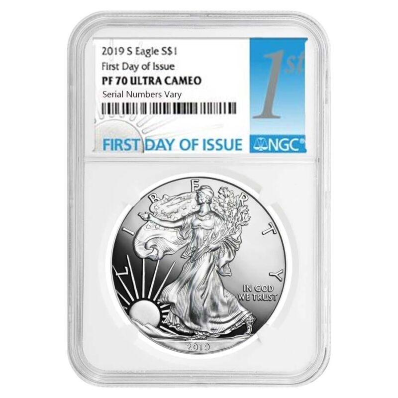 2019-S 1 oz Proof Silver American Eagle NGC PF 70 UCAM FDOI