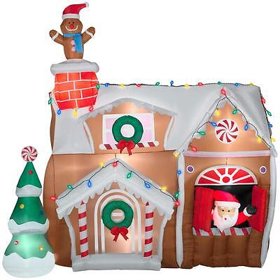 8.9 Ft Animated Gingerbread House Lighted Christmas Airblown Inflatable Outdoor