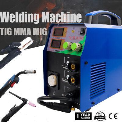 Mig 200 Igbt Multi-process Welder Mig Tig Stick Combo Welding -220v Dc