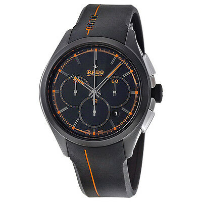 Rado Hyperchrome XXL Black Dial Black Rubber Mens Watch R32525169