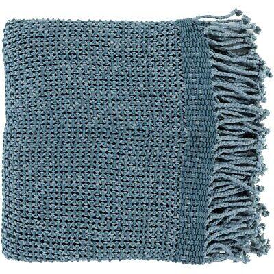 Tibey by Surya Throw Blanket, Denim - TBE5002-5070