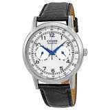 Citizen Eco-Drive Stainless Steel Black Leather Mens Watch AO9000-06B