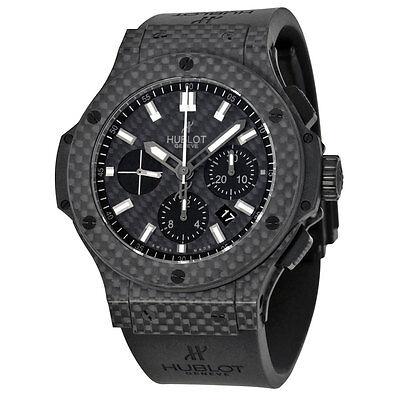 Hublot Big Bang Black Carbon Fiber Dial Automatic Chronograph Mens Watch