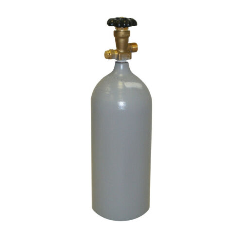 5 lb Reconditioned Steel CO2 Tank - CGA320 Valve - Fresh Hydro & DOT Approved