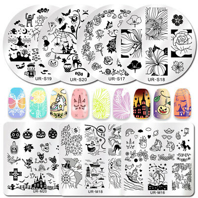 UR SUGAR Nail Stamping Image Plates Printing Polish Dreamcatcher Halloween DIY](Diy Halloween Nails)