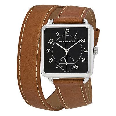 Michael Kors Brenner Black Dial Tan Leather Ladies Watch MK2676