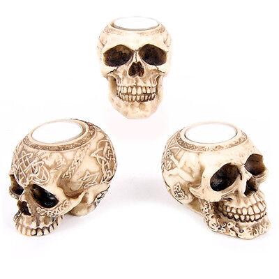 Skull Tea Light Candle Holder Celtic Gothic Tribal Samhain Halloween](Halloween Celtic Origins)