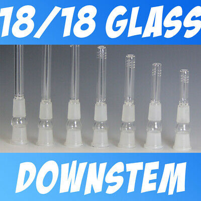Pyrex Glass On Glass Downstem 1818 For 18mm Female Tubes - 2.5 - 6 Cut Diffy