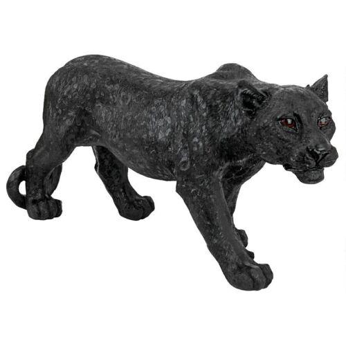 Contemporary AFRICAN BLACK PANTHER OUTDOOR STATUE Jungle Predator Sculpture Art