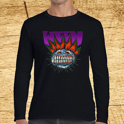 Ween Band Halloween Tour Logo Long Sleeve Black T-Shirt Size S to 3XL - Halloween Band Tour