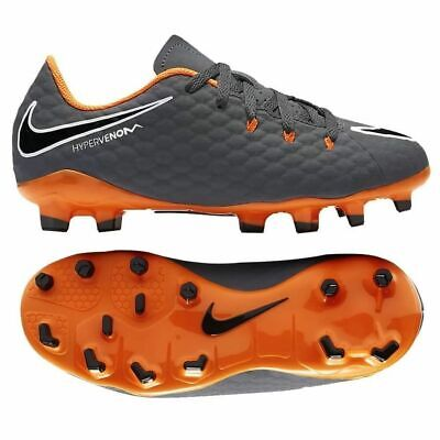 66a2c7bd8 Nike Youth JR Hypervenom Phantom 3 Academy FG Soccer Cleats Grey Orange  Size 5