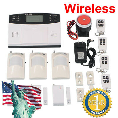 Wireless LCD GSM SMS Refuge Security Burglar House Fire Alarm System Auto Dialer