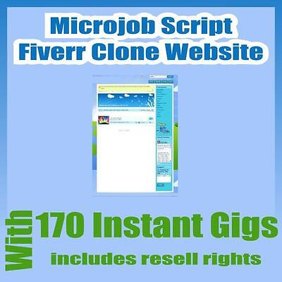 Microjobs Website Fiverr Clone Script With 170 Gigs Installation Free Hosting