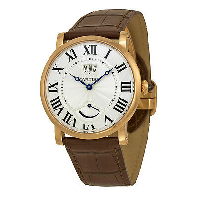 Cartier Rotonde de Cartier Silver Dial 18kt Rose Gold Mens Watch W1556252