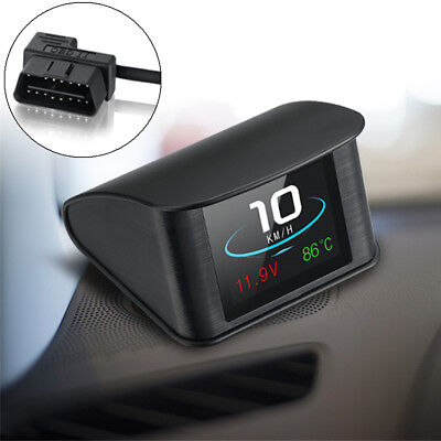 HUD Computer Car Digital OBD2 Display Speedometer Coolant Temperature Gauge ECU