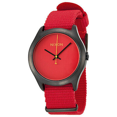 Nixon Mod Red Dial Red Nylon Mens Watch