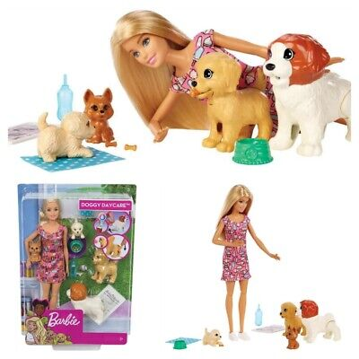 Barbie Doggy Daycare Doll & Pets, Blonde - YOU CAN BE ANYTHING BARBIE