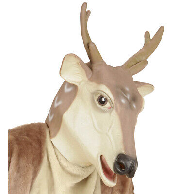 Weihnachten Hirsch Rentiermaske Reh Kostüm Party Deko 96594 (Rentier Maske)