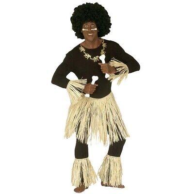 ZULU AFRIKANER KOSTÜM # Afrika Karibik Südsee Hawaii Herren Damen Bastrock 3374
