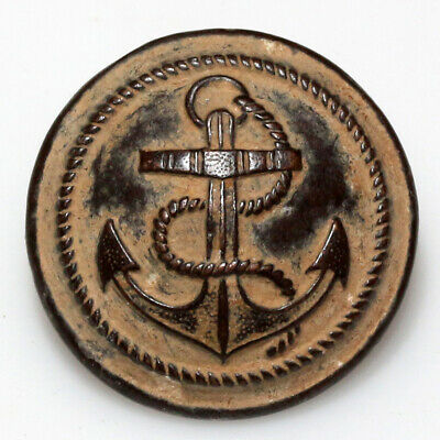 CIRCA 1800-1900 AD MILITARY NAVY UNIFORM BRONZE BUTTON-WEARABLE