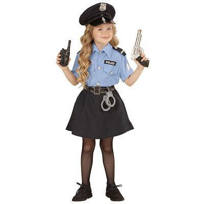 POLIZISTEN KOSTÜM & HUT KINDER Karneval Fasching Polizei Rock Bluse Mädchen 0400