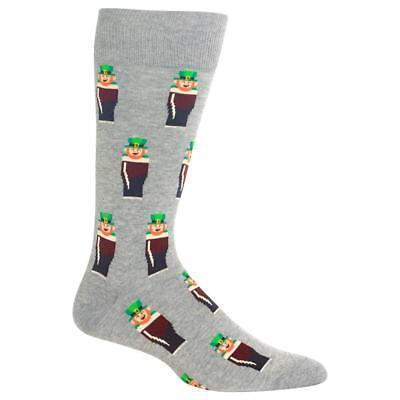 Leprechaun Hot Sox Men's Crew Socks New Novelty St Patrick's Day Fashion