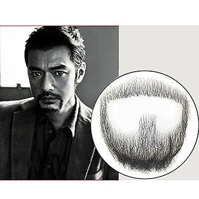 Fake Black Beard Man Makeup Mustache Cosplay Prop 100% Human Facial Hair Promote (Fake Beard Hair)