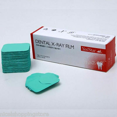 Star 100 Pcspack Dental X-ray Film Size 3cm X 4cm For Reader Scanner Machine