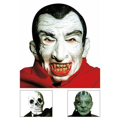 HALLOWEEN MASKE # Totenkopf Sensenmann Grünes Monster Vampir Dracula Kostüm - Grüne Sensenmann Kostüm